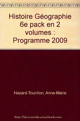 """""""histoire/géographie ; 6ème ; manuel numérique ; pack 2 volumes (&..."""