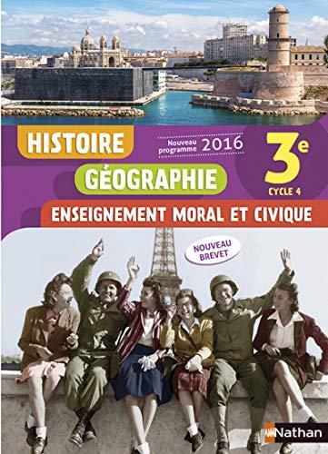 9782091718972: Histoire Géographie Enseignement moral et civique 3e Cycle 4 : Livre de l'élève