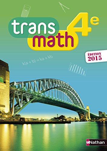 transmath ; 4ème ; format compact (édition 2015): Collectif