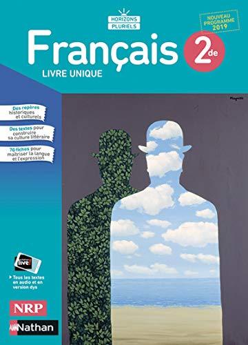 9782091720524 Francais Horizons Pluriels 2de Manuel Eleve