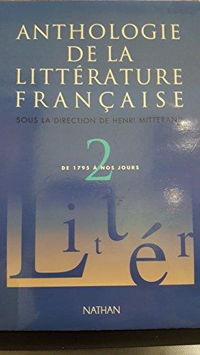 9782091720623: Anthologie de la littérature française, tome 2