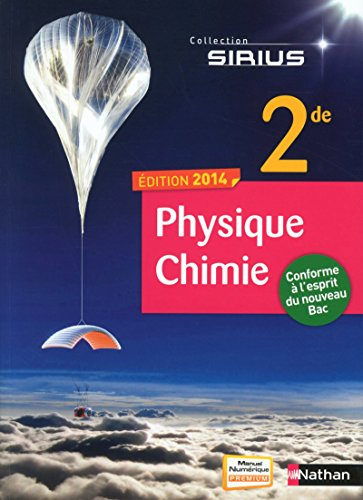 9782091721989: Physique - Chimie 2de (Sirius) (French Edition)