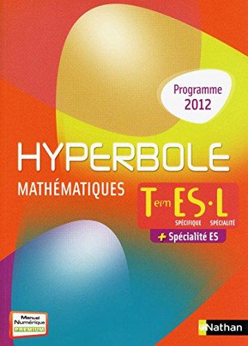 9782091726748: hyperbole terminale es enseignement specifique + specialite + terminale l specialite