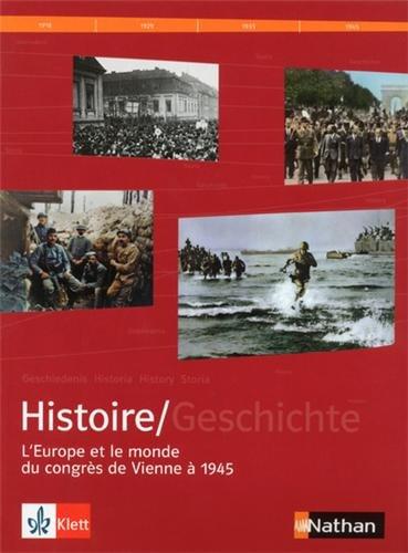 9782091728223: Manuel histoire franco-allemand : Tome 2, L'Europe et le monde du Congrès de Vienne à 1945