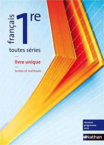 """""""français ; 1ères toutes sections ; textes, methodes ; livre de l'él..."""