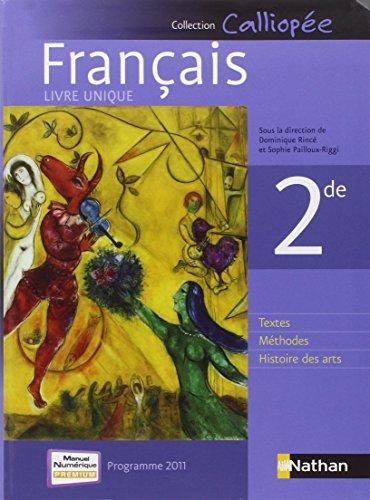 9782091728544: Français 2de - Programme 2011 (French Edition)