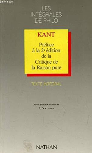 Préface à la 2è édition de la: Emmanuel Kant