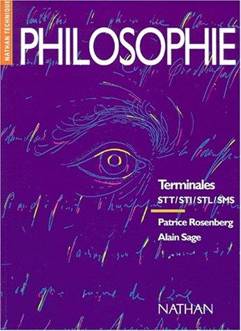 Philosophie, terminale STT STI, élève (9782091765259) by Rosenberg