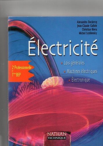 9782091787381: Electricité, seconde - terminale BEP, élève, 2000