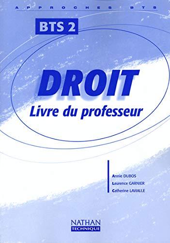 9782091789521: DROIT BTS 2EME ANNEE PROFESSEUR