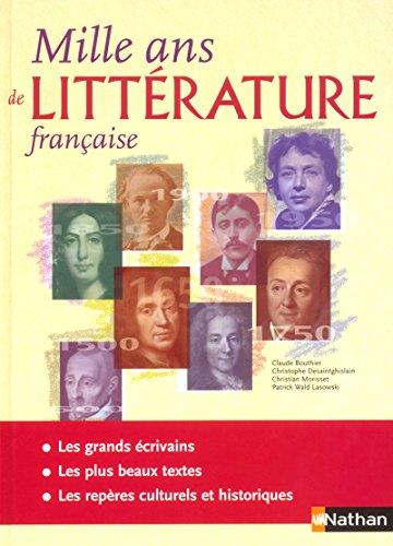 mille ans de litterature francaise