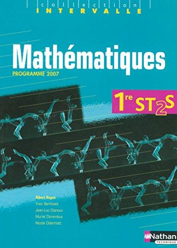 """""""mathématiques ; 1ère ST2S ; livre de l'élève (édition..."""