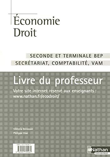 9782091795461: Economie Droit 2e Tle BEP secretariat comptabilite VAM (French Edition)