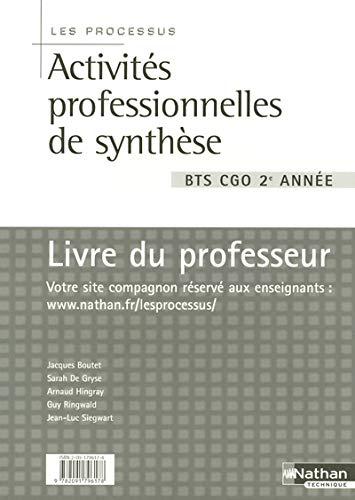 9782091796178: Processus Activit�s professionnelles de Synth�se BTS 2e ann�e