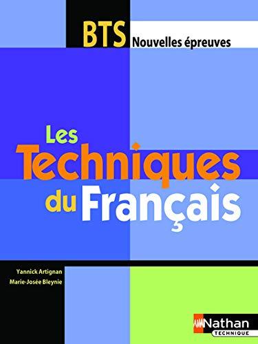 9782091798950: TECHNIQUES FRANCAIS BTS ELEVE