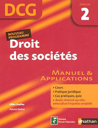 9782091799094: Droit des soci�t�s Epreuve 2 - DCG - Manuel et applications