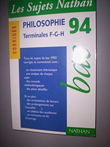 Bac Philosophie F G H Abebooks