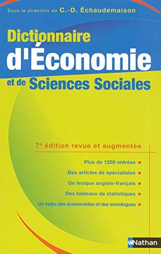 9782091820361: Dictionnaire d'Economie et de Sciences Sociales