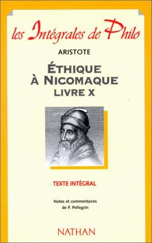 9782091825052: ETHIQUE A NICOMAQUE. : Livre X