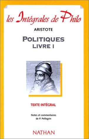 9782091825120: Aristote : Politiques, livre 1