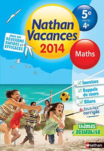 Nathan Vacances Maths de la 5e vers: Jean-Paul Louis