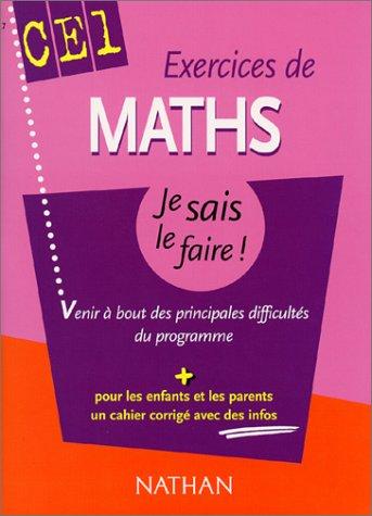 9782091841854: Exercices de Math CE1 : Venir à bout des principales difficultés du programme (+ corrigé)
