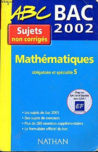 Bac 2002 maths s non corriges: Lixi Christian