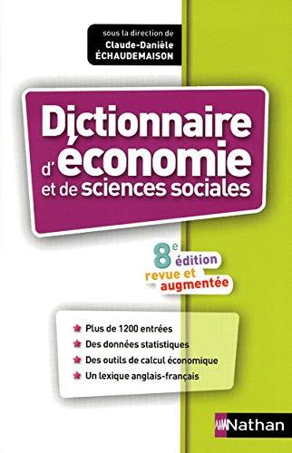 9782091860572: dictionnaire d'économie et de sciences sociales (8e édition)