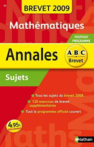 9782091875453: ANNAL 09 ABC BREV SUJ MATH NC