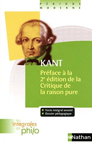 Préface à la 2e édition de la: Emmanuel Kant