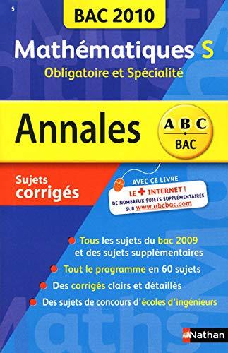 9782091875774: Mathématiques Tle S, obligatoire et spécialité : Sujets corrigés