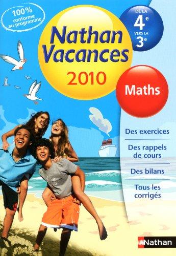 9782091879420: Maths de la 4e vers la 3e Nathan Vacances