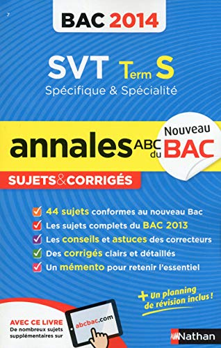 9782091880518: ANNALES BAC 2014 SVT TS SPE +