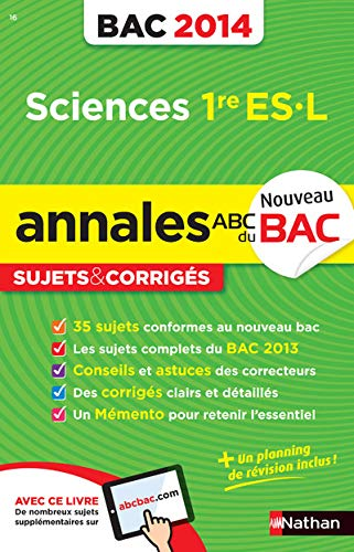9782091880617: ANNALES BAC 2014 SCIENCES 1ERE