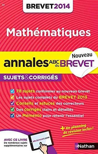 9782091880679: ANNALES BREVET 2014 MATHS