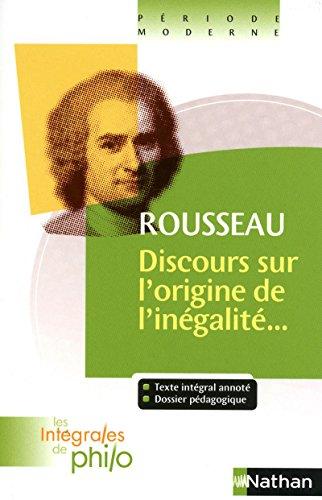 Rousseau ; discours sur l'origine de l'inÃ: Rousseau, Jean-Jacques