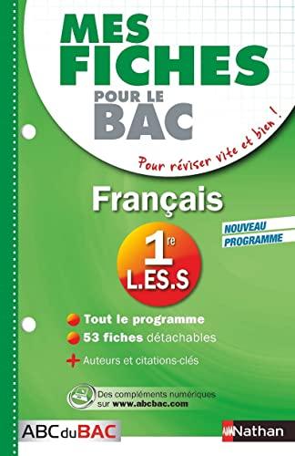9782091884639: Mes Fiches ABC du BAC Fran�ais 1re L.ES.S