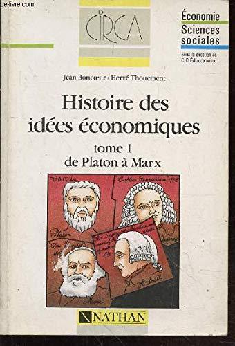 9782091889672: Histoire des idees economiques tome 1 031497