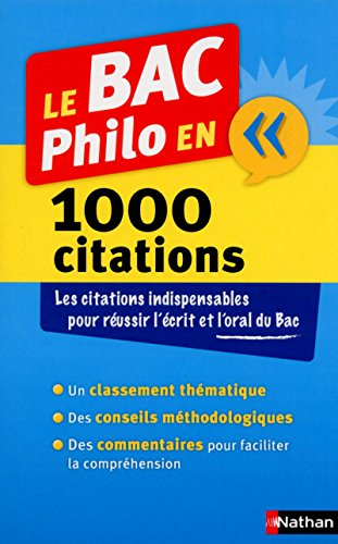 Le Bac en philo en 1000 citations: Huisman, Denis