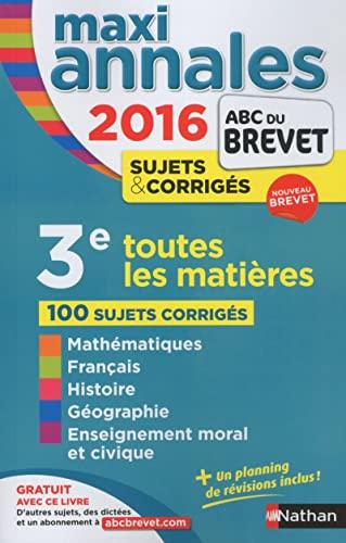 9782091893891: MAXI Annales ABC du BREVET 2016