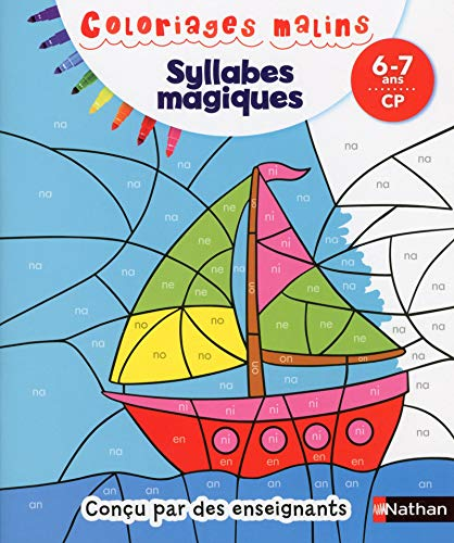 9782091894553: Coloriages Malins - Syllabes Magiques CP (French Edition)