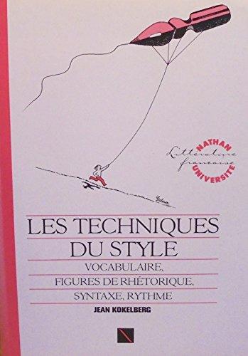 9782091900490: Les techniques du style 031497