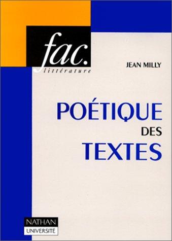 9782091900506: La poétique des textes