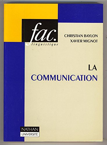 9782091900810: La communication