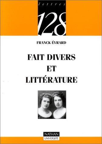 9782091903484: Faits divers et littérature