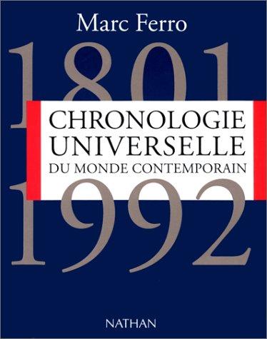 9782091904153: Chronologie universelle du monde contemporain : 1801-1992