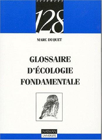 9782091905389: Glossaire d'écologie fondamentale