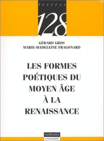 9782091906270: Les formes poétiques du Moyen âge à la Renaissance