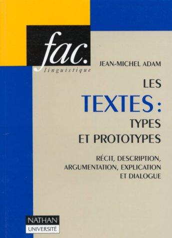 9782091907567: Les Textes, types et prototypes