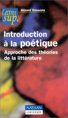 9782091908915: Introduction à la poétique : Approche des théories de la littérature